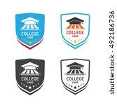 university logo emblem vector... | Shutterstock .eps vector #492186736