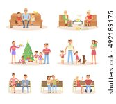 different types of married... | Shutterstock .eps vector #492189175