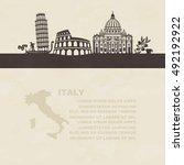 a vector illustration of... | Shutterstock .eps vector #492192922