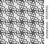 seamless black and white swirl... | Shutterstock . vector #49219441
