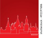 russia moscow concept for web... | Shutterstock .eps vector #492197686