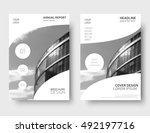 white annual report cover ...   Shutterstock .eps vector #492197716