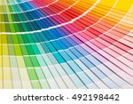colour swatches book. rainbow... | Shutterstock . vector #492198442