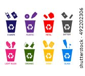 trash categories. recycle... | Shutterstock .eps vector #492202306