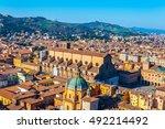 aerial view of piazza maggiore...   Shutterstock . vector #492214492