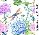 seamless pattern illustration... | Shutterstock . vector #492217042