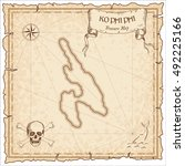 ko phi phi old pirate map.... | Shutterstock .eps vector #492225166