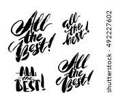 set of modern brush calligraphy ...   Shutterstock .eps vector #492227602