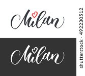 Milan Hand Drawn Vector...