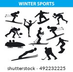 winter ice snow sports... | Shutterstock .eps vector #492232225