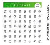 set of 56 american football ... | Shutterstock .eps vector #492233392