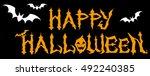 happy halloween.   logo 1 | Shutterstock .eps vector #492240385