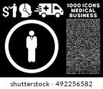 white manager vector rounded... | Shutterstock .eps vector #492256582
