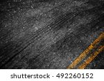 asphalt background texture with ... | Shutterstock . vector #492260152