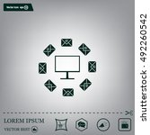 mail computer  vector... | Shutterstock .eps vector #492260542