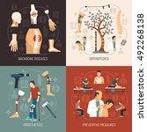 orthopedics 2x2 design concept... | Shutterstock .eps vector #492268138