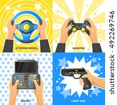 game gadget 2x2 design concept... | Shutterstock .eps vector #492269746