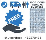 free present icon with 1000... | Shutterstock .eps vector #492270436