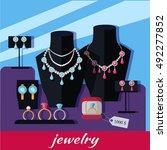 jewelry shop banner. store... | Shutterstock .eps vector #492277852