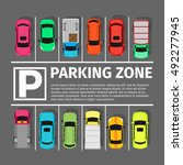 parking zone conceptual web... | Shutterstock .eps vector #492277945