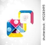 square banner geometric... | Shutterstock .eps vector #492283495