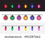 christmas lights background for ... | Shutterstock .eps vector #492287662