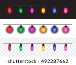 christmas lights background for ... | Shutterstock .eps vector #492287662