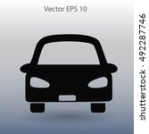 flat car icon. vector.   Shutterstock .eps vector #492287746