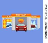 car wash services  auto... | Shutterstock .eps vector #492310162