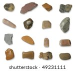 big set of isolated stones on...   Shutterstock . vector #49231111