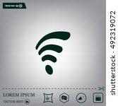 wi fi  web icon. vector design | Shutterstock .eps vector #492319072
