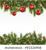 christmas background realistic... | Shutterstock .eps vector #492326908