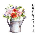 Summer Flowers In Vintage...