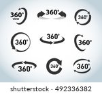 360 degrees view flat vector...