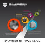 vector infographic company... | Shutterstock .eps vector #492343732