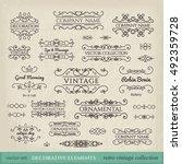 calligraphic design elements.... | Shutterstock .eps vector #492359728