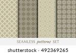 seamless geometric line... | Shutterstock .eps vector #492369265