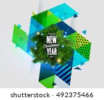 christmas design and elements... | Shutterstock .eps vector #492375466