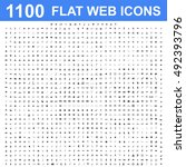 1100 icon set. concept... | Shutterstock . vector #492393796