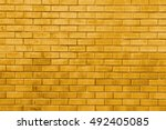 Yellow Gold Brick Wall Abstrac...