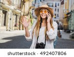 photographer travel sightseeing ... | Shutterstock . vector #492407806