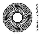 Dot Circle Abstract Design...