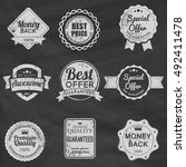 vintage retro flat badges... | Shutterstock .eps vector #492411478