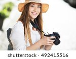 photographer travel sightseeing ... | Shutterstock . vector #492415516