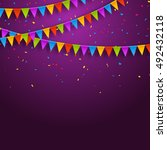 vector festive card with... | Shutterstock .eps vector #492432118