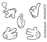 white cartoon hand
