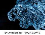 winterlude  ice sculpture of a... | Shutterstock . vector #492436948