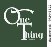 One Thing Word In Christianity...