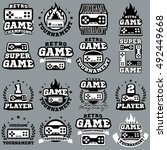 computer and video game game... | Shutterstock .eps vector #492449668