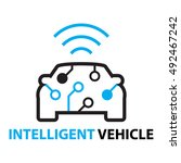 smart car intelligent vehicle... | Shutterstock .eps vector #492467242